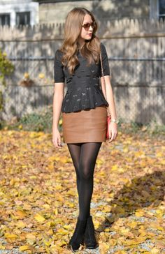 brown leather skirt | outfits | Pinterest | Brown skirt outfits ...