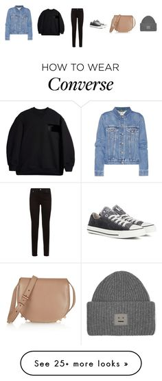"""""""Untitled #3651"""" by memoiree on Polyvore featuring Acne Studios, 7 For All Mankind, Converse, Alexander Wang and T By Alexander Wang"""