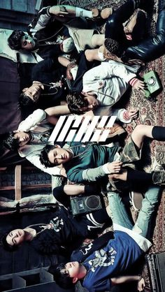 iKON LOGO wallpaper cr:kpopwallpapers on tumblr