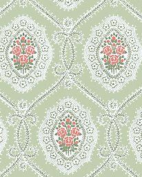 Tapet Alma ljusgrön från Sandberg