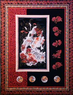 Asian quilting fabric panels curiously