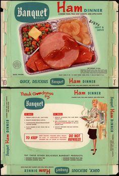 Banquet Brand TV Dinner - Ham dinner - box - 1960's | Flickr - Photo Sharing!