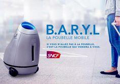 B.A.R.Y.L : la poubelle mobile | Gares by Immersive Robotics