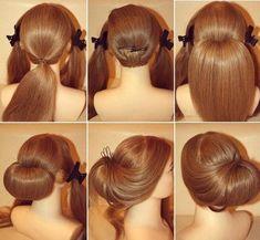 hair style!!! #Updo #hairbun #tutorial by caliinerii