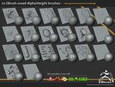 20 brushes and alpha/height maps. Download - https://gumroad.com/environmentdesign Questions and updates - www.facebook.com/JonasDigitalArt