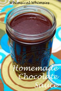 Homemade chocolate sauce: 1 cup of cocoa powder (you could cut it down to even c or c because this is a super rich recipe (although quite delicious)) 1 cups sugar 1 cup water a dash of salt 2 t vanilla Homemade Chocolate Sauce, Chocolate Sauce Recipes, Homemade Sauce, Dessert Sauces, Dessert Recipes, Jello Recipes, Juice Recipes, Delicious Desserts, Yummy Food