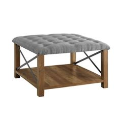 The Gray Barn 30-inch Square Tufted Seat Ottoman - On Sale - Overstock - 29583229 - Grey Ottoman Table, Tufted Ottoman, Fractions, Fabric Coffee Table, Coffee Tables, Living Furniture, Plywood Furniture, Modern Furniture, Furniture Design