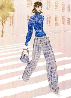 inspired by Tory Burch - Fall 2017 Ready-to-Wear | illustration by Masaki Ryo.
