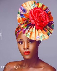 Oni  Gele... Nigerian Head Tie Beautiful Gele @flexingstyles247