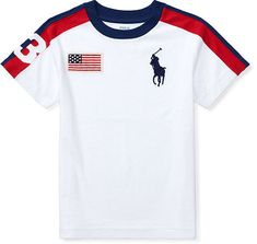 Shop for Ralph Lauren Boys Big Pony Cotton Crewneck Tee at ShopStyle. Basic Outfits, Boy Outfits, Boys T Shirts, Tee Shirts, Polo Tees, Ralph Lauren Boys, White Boys, Eid, Mens Suits