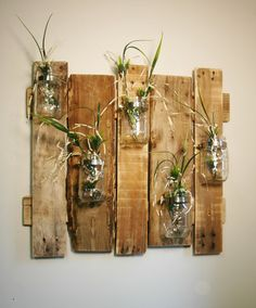 Unique large wall piece with Clear Mason Jars wall decor kitchen decor bedroom decor