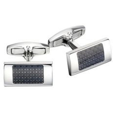 Gaventa present these rectangular steel cufflinks with an inset of carbon fibre, giving them a stylish, understated look.    A beautiful, stylish gifts for the discerning man in your life on http://coolcufflinks.co.uk