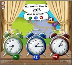 summer school, interactive whiteboard, telling time, teach time, time activities