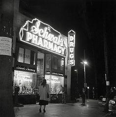 Schwab's Pharmacy in Hollywood, vintage Los Angeles old photo