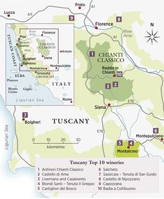Wine writer and travel agent Filippo Bartolotta talks about Tuscany, its wines and recommends his top 10 wineries to visit in the region.