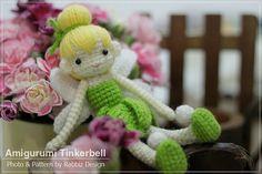 Tinkerbell Amigurumi Crochet Doll Ready to Ship by rabbizdesign, $20.00