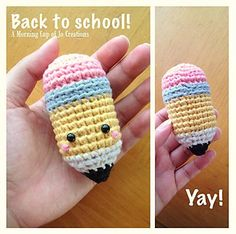 ***Why not make a longer one with a zipper under the eraser, and use it for pencils or crochet hooks or whatever?