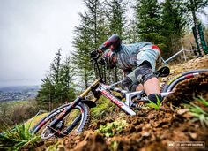 @gregminnaar down fast the line last days in the finals in Lourdes. Awesome angle shot by Mathew Delorme  this bike are so sick!  #downhilladiction by downhilladiction