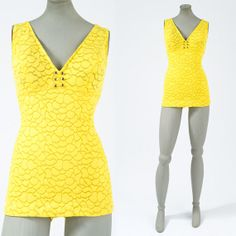 60's Yellow Catalina Pinup Bathing Suit by missfarfalla on Etsy, $110.00
