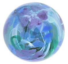 Picture 2 of 11 Periwinkle Flowers, Caithness Glass, World War One, Glass Paperweights, Paper Weights, Glass Art, Pottery, Antiques, Blue