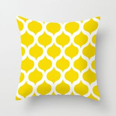Yellow accents might look good with the blue rug...Safi Sunrise Pillow Cover in Yellow | dotandbo.com