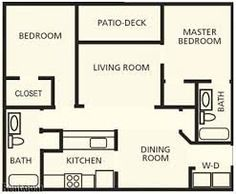 our gorgeous 2 bedroom floorplan