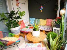 Tendance upcycling : 30 idées déco récup • Hellocoton Outdoor Furniture Sets, Outdoor Decor, Picnic, Basket, Table Decorations, Green, Balcony, Home Decor, Gardens