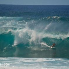 Oahu big wave surfing on the North Shore