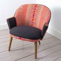 Chinchero Chair - 1960's Danish Chair with Handwoven Peruvian Tribal Textile Upholstery