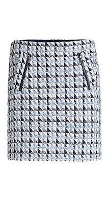Esprit / Triangel tweed minirok