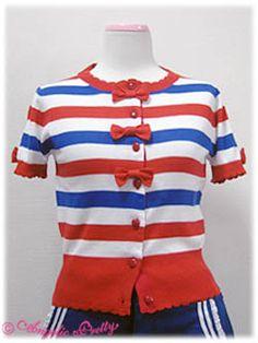 Short Sleeve Ribbon Border Cardigan