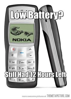 Low battery in the old days…