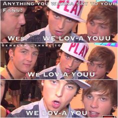 thats was funny. keaton also mentioned he loved our faces....... nice to no ;P