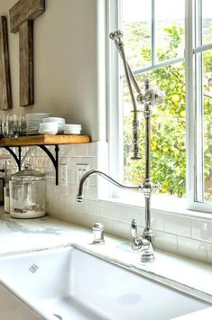 waterstone usa large traditional plp faucet with swing out arm in polished chrome - the ultimate guide to luxury plumbing by the delight of design