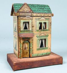Lithographed Paper Covered Wood Bliss Doll House.