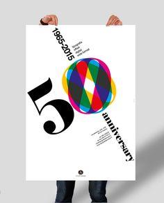 50th anniversary Typography Leonardi - Poster on Behance