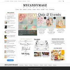 Redesign with love My Blog MyCandyMagz with Magazine minimalist concept #blogdesign #webdesign