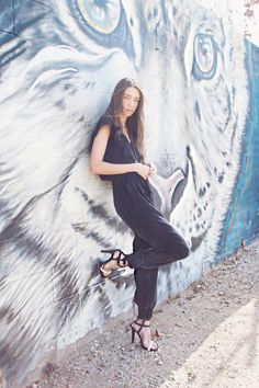 Catcher in the Style simplifies chic style and shows off her casual elegance in our Omeci Silk Jumpsuit.