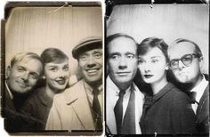 4. Audrey Hepburn And Mel Ferrer With Truman Capote