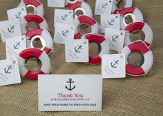 Lifesaver Bottle Opener for a beach or nautical wedding or bridal shower. - Beach Front Occasions,
