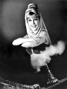 "Barbara Eden in ""I Dream of Jeannie"", 1965."