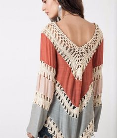 Multicolor Long Sleeve Crochet Kimono . I just got ripped off paid $42 for it at small clothing store called Blue Fashion in Mizner Park .Should have checked Pinterest first :(