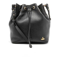 91f5289e2968 Vivienne Westwood Women s Belgravia Leather Bucket Bag - Black ( 515) ❤  liked on Polyvore featuring bags