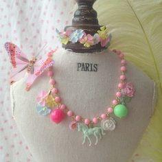Michu coquette vintage pony necklace