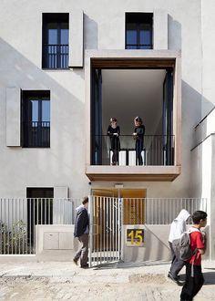 Tetris, social housing and artist studios,© Luc Boegly