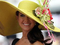 Pretty yellow picture hat -- 2011 Kentucky Derby Hats | ThePostGame