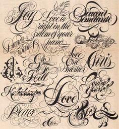 #typographic #tattoo #fonts types  I wanr my grandma's name on my wrist