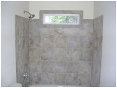Tile Tub Surround With Window Wrap