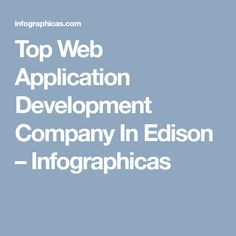 Top Web Application Development Company In Edison – Infographicas