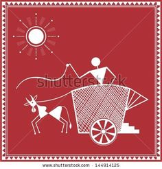 Buy Maroon & White Cotton Canvas Warli Tribal Art Print by Wall Decor (Model No: Online - Warli Art - Ethnic Art - Home Decor - Pepperfry Product Madhubani Art, Madhubani Painting, Worli Painting, Fabric Painting, Arte Tribal, Tribal Art, Indian Folk Art, Traditional Paintings, Monochrom